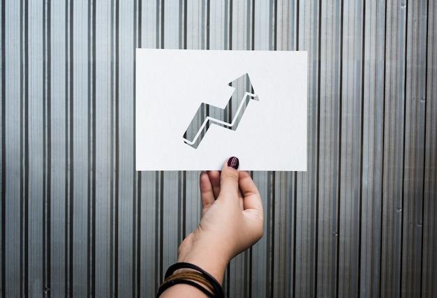 Gráfico de papel perfurado de aspiração de metas