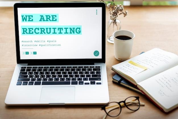 Gráfico de qualificação de recrutamento de contratação de carreira