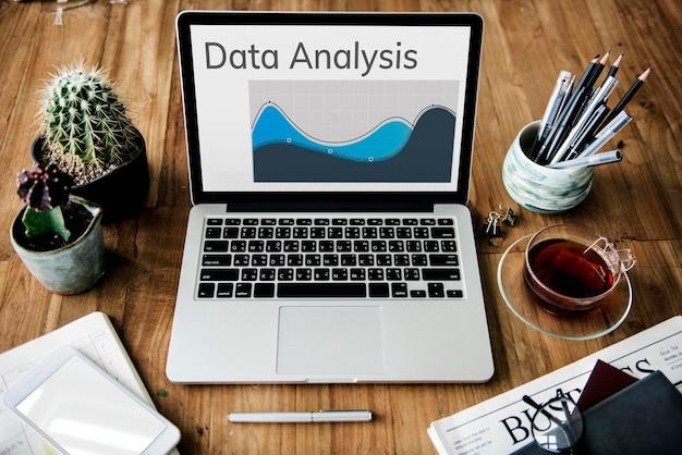 Gráfico de resumo de resultados de análise de dados gráfico de palavras
