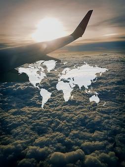 Gráfico de suporte global do continente do mapa mundial