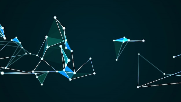 Gráfico de tecnologia digital abstrata futurista molécula estrutura internet
