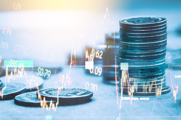 Gráfico de velas adequado para o conceito de investimento financeiro