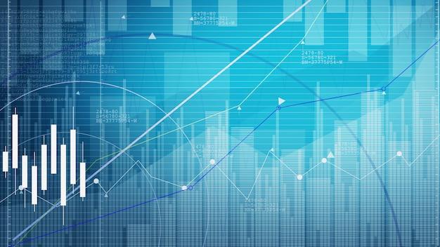 Gráfico do mercado de ações. fundo gráfico de negócios.