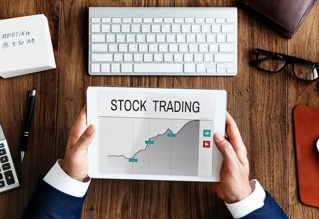 Gráfico do quadro de informações da bolsa de valores