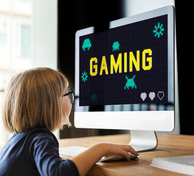 Gráfico game play diversão relax lazer
