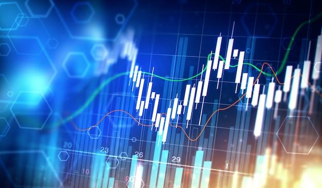 Gráfico gráfico de ações