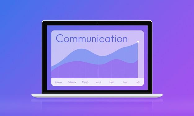Gráfico mensal de tecnologia de conexão