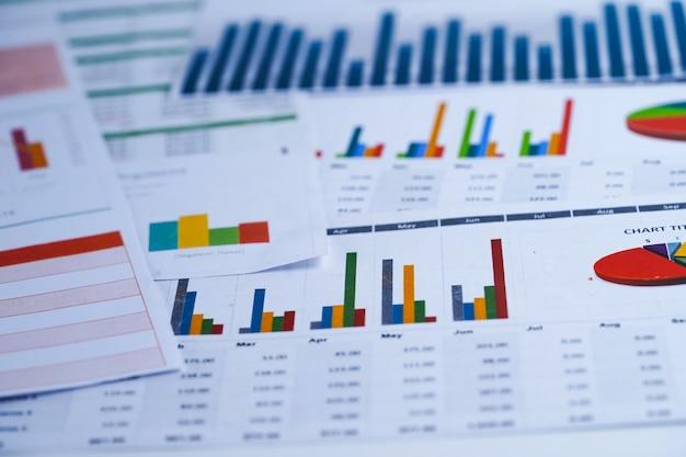 Gráfico papel gráfico. financeiro, conta, estatística, economia de dados de pesquisa analítica, busines
