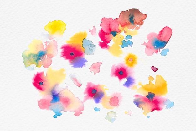 Gráfico sazonal de flores coloridas em aquarela primavera
