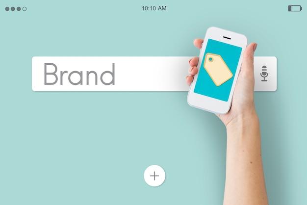 Gráficos de estilo de tags de preço de marca