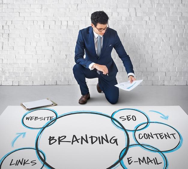 Gráficos de fidelidade de branding de marketing digital