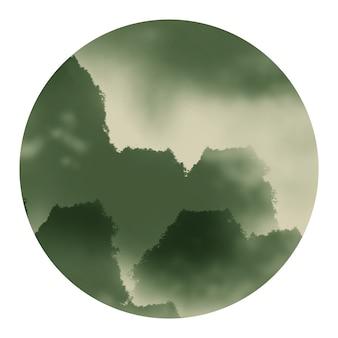 Gráficos de material de paisagem de tinta de viagem