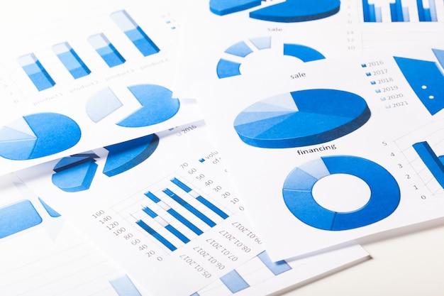 Gráficos de negócios azul