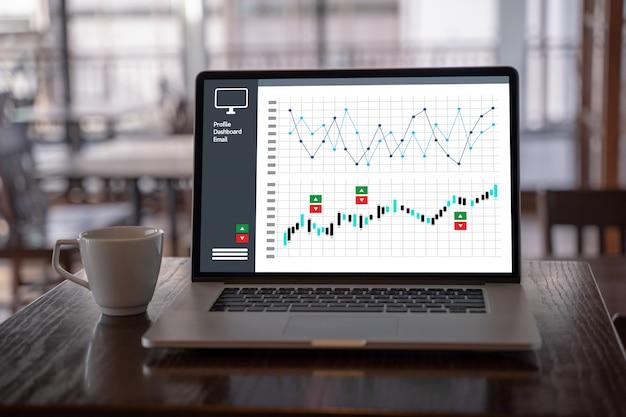 Gráficos de painel de vendas de marketing ao cliente