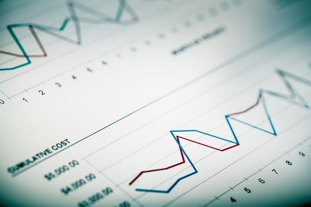 Gráficos e tabelas de negócios, plano de fundo de negócios