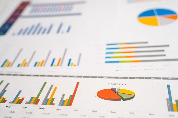 Gráficos papel gráfico desenvolvimento financeiro conta bancária