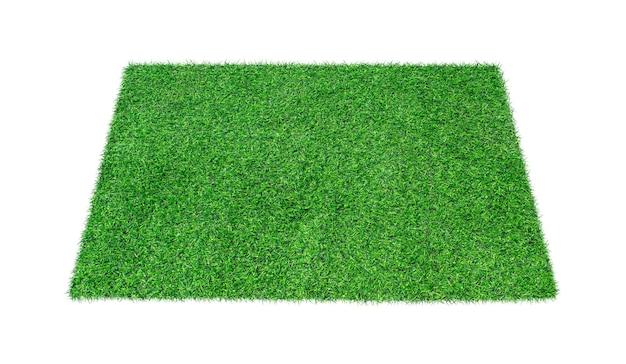 Grama de tapete verde isolada em branco