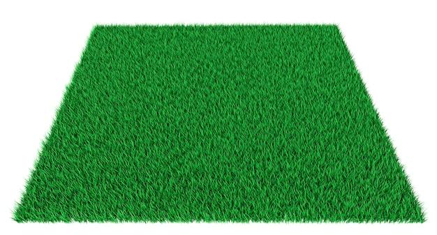 Grama retangular de tapete verde
