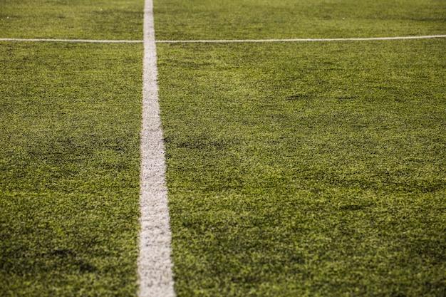 Grama verde do campo de futebol