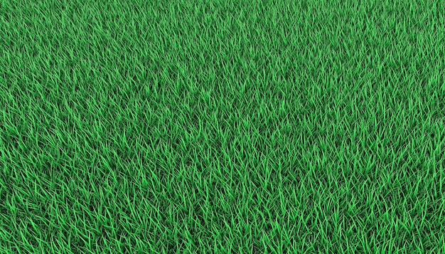 Gramado verde brilhante. ilustração 3d