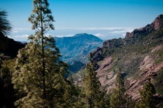 Gran montanha paisagem canaria