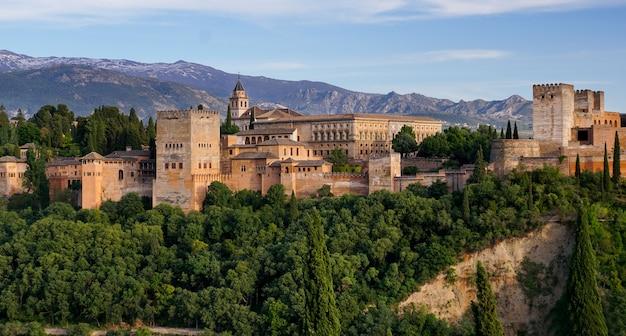 Granada - o palácio dos jardins de alhambra.