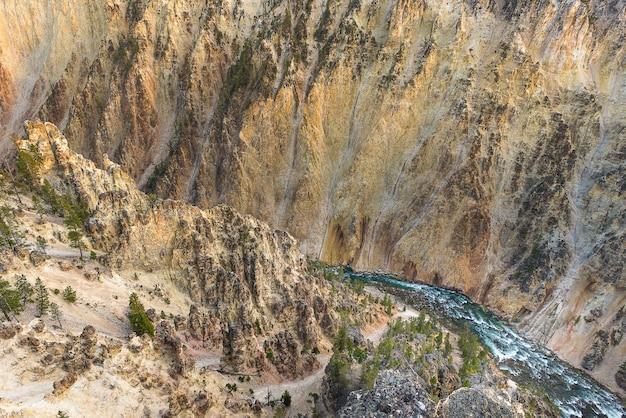 Grand canyon do parque nacional de yellowstone