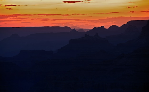 Grand canyon scenic sunset