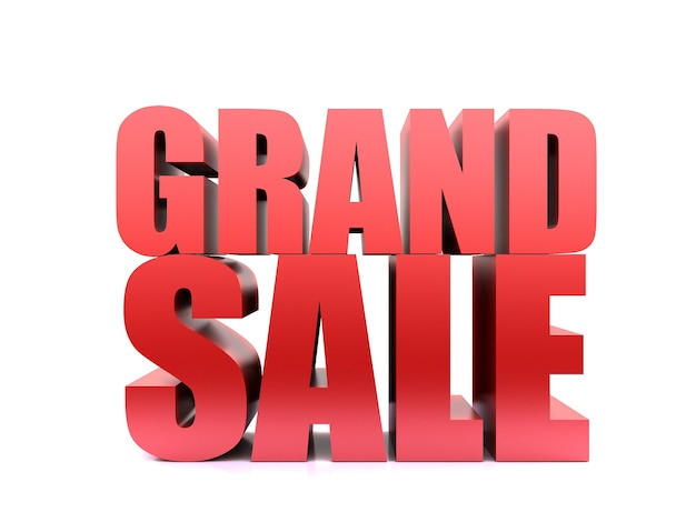 Grand sale word, 3d render