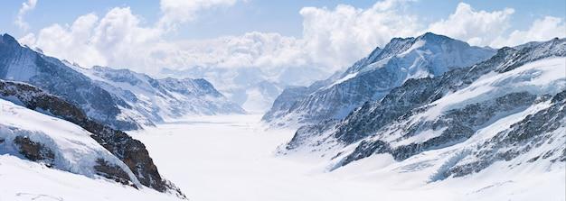 Grande, aletsch, geleira, jungfrau, alpes, suíça