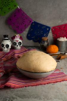 Grande ângulo de massa de pan de muerto