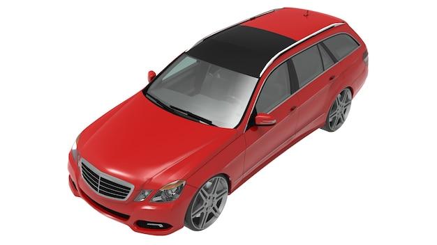 Grande carro familiar vermelho com um manuseio esportivo e ao mesmo tempo confortável