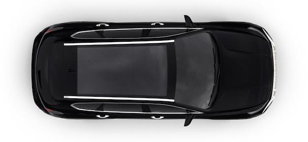 Grande cidade crossover cor preta sobre um fundo branco. renderização 3d.