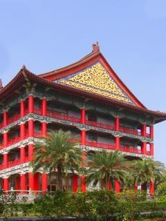 Grande edifício em estilo chinês