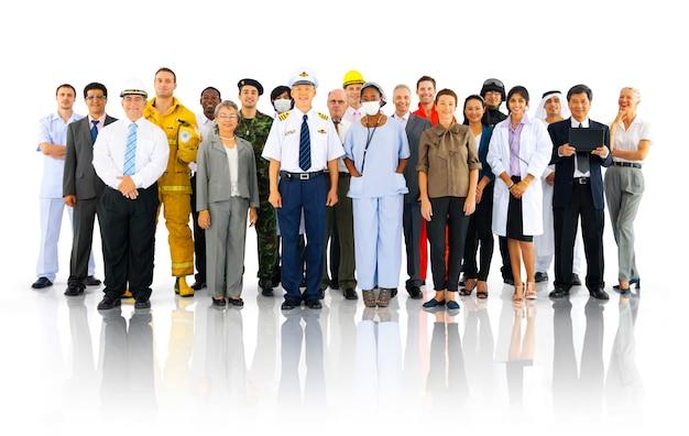Grande grupo de profissionais