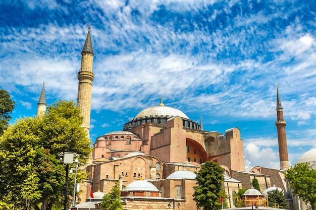 Grande mesquita de hagia sophia em istambul, turquia