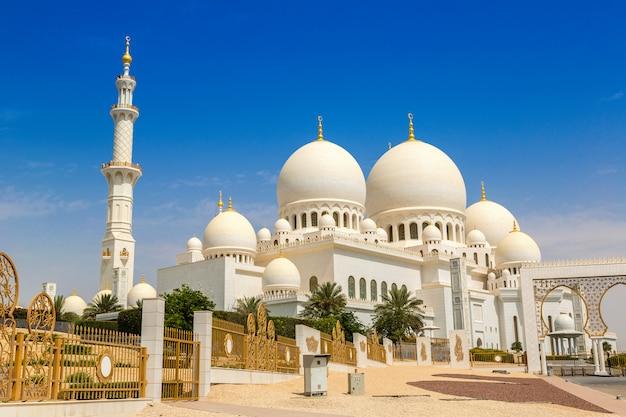 Grande mesquita sheikh zayed em abu dhabi