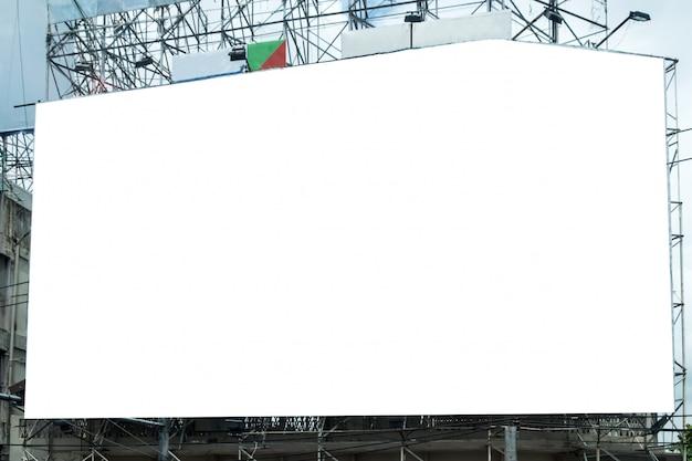 Grande outdoor branco anunciar