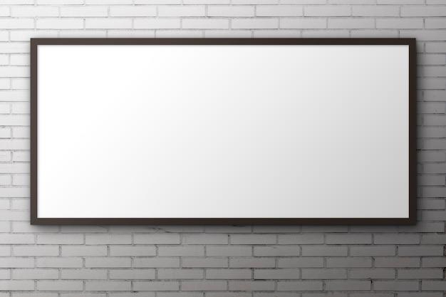 Grande painel para publicidade em superfície de tijolo