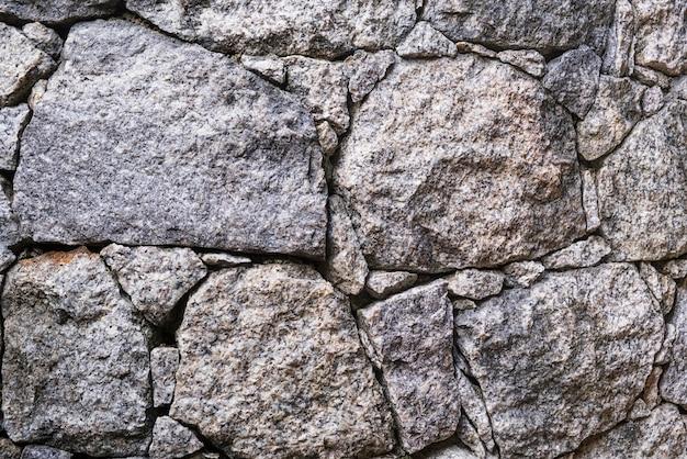 Grande parede de pedra cinza textura de fundo