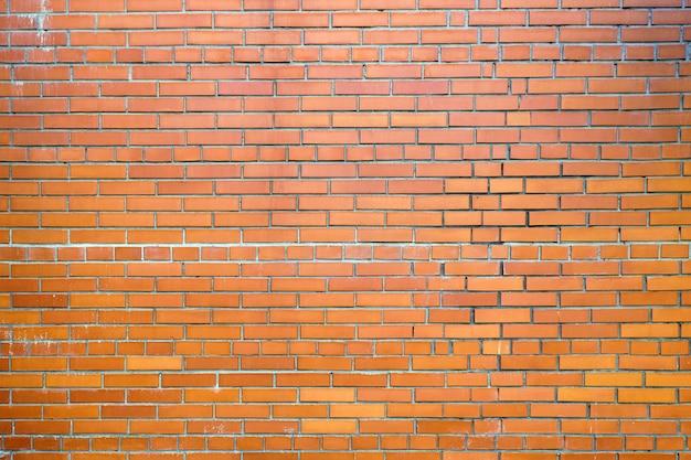 Grande plano de fundo de uma nova parede de tijolo vermelho
