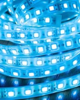 Grande plano de luz de tira led