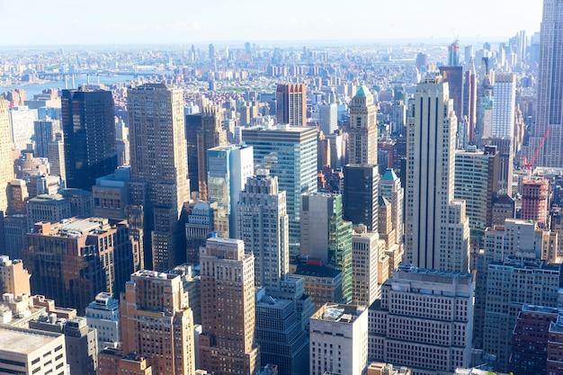 Grande plano do centro da cidade de nova york