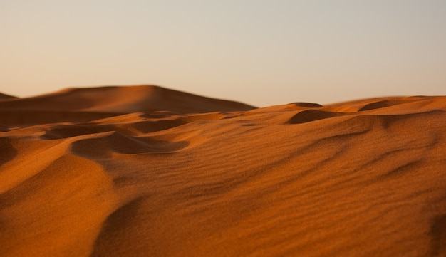 Grande plano do deserto de areia erg