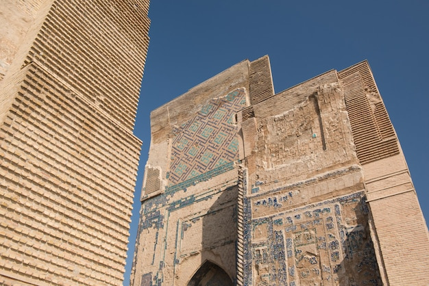 Grande portal aksaray palácio branco de amir timur uzbequistão shahrisabz arquitetura da ásia