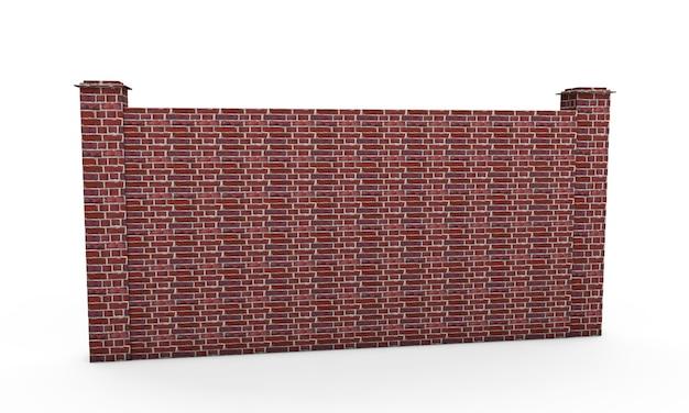 Grande portão de ferro fechado em fundo branco 3d render