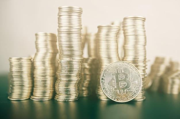 Grande quantidade de bitcoin