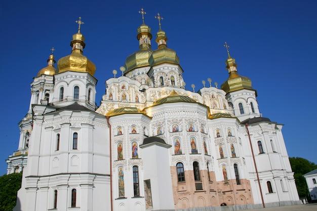 Grande templo cristão ortodoxo de kiev pechersk lavra, kiev, ucrânia. também conhecido como mosteiro das cavernas de kiev