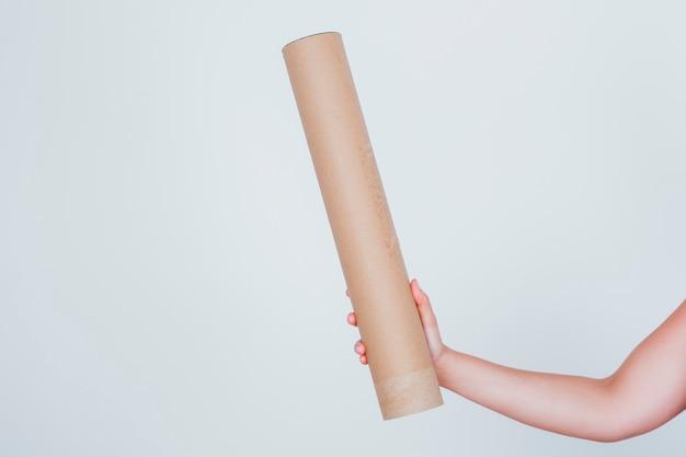 Grande tubo de cartão