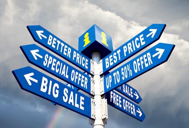 Grande venda, melhor preço e oferta especial sinais de trânsito direcionais